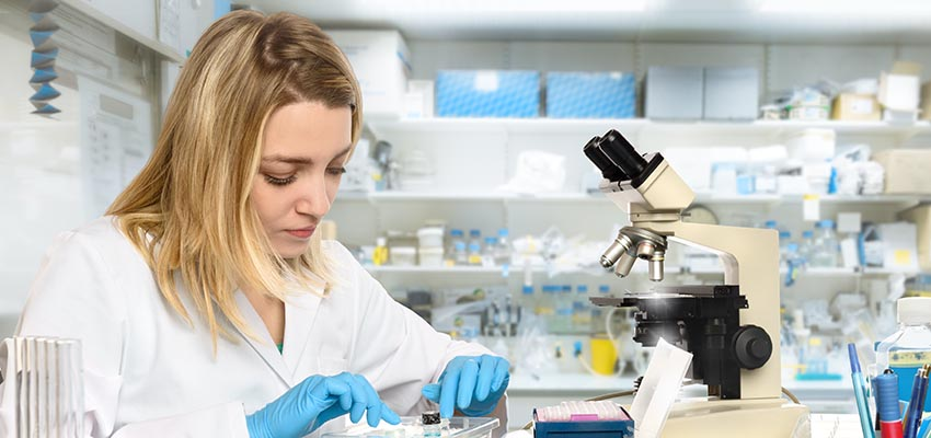 Girl in Lab