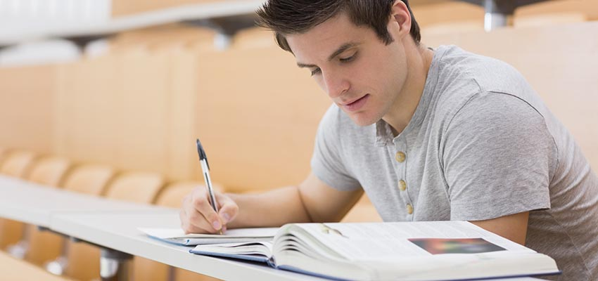 Reason for Buying Term Papers  Student Writing a Paper